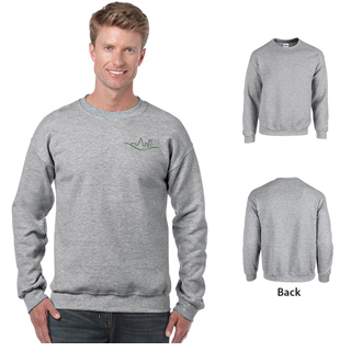 Gildan 18000 - Adult Heavy Blend Crewneck Sweatshirt.  8 ounce Gildan Sweatshirt in Heather color.
