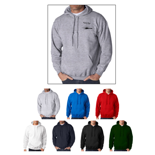 Gildan 18500 Heavy Blend Hooded Sweatshirt.  Custom printed Gildan sweatshirts.