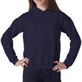 Navy blue color Gildan 18500B Kids Hooded Sweatshirt for schools and sports camps.