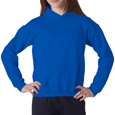 Royal blue colored Gildan 18500B custom printed hooded sweatshirts for sale. Buy custom hooded sweatshirts for your scout troop and special event.