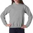SportsGrey colored Gildan 18500B hooded sweatshirt. Custom printed hoodies for schools, sports camps and sports teams.