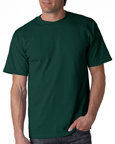 Gildan 2000 forest green colored t-shirts.