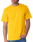 Gildan 2000 gold colored t-shirts.