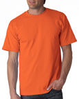 Gildan 2000 orange colored t-shirts.