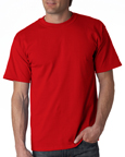 Gildan 2000 red colored t-shirts.