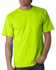Gildan 2000 safety green colored t-shirts.