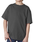 Charcoal colored Gildan 2000B Youth Ultra Cotton T-Shirts for Kids. Customized t-shirts for schools and camps.