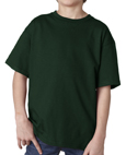 Forest green color Gildan 2000B Youth Ultra Cotton T-Shirts for boy scout troops.