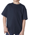 Navy blue color Gildan 2000B Youth Ultra Cotton T-Shirts for schools and sports camps.