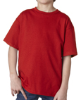 Red colored Gildan 2000B Youth Ultra Cotton T-Shirts for girl scout troops.