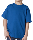 Royal blue colored Gildan 2000B Youth Ultra Cotton T-Shirts for public schools and sports teams.