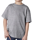 SportsGrey colored Gildan 2000B Youth Ultra Cotton T-Shirts for Kids. Order custom printed t-shirts for children.