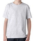 Ash colored Gildan 5000B Youth Heavy Cotton T-Shirts for Kids. Order custom printed t-shirts for children.