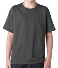 Charcoal colored Gildan 5000B Youth Heavy Cotton T-Shirts for Kids. Customized t-shirts for schools and camps.