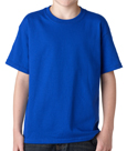 Royal blue colored Gildan 5000B Youth Heavy Cotton T-Shirts for chidlren.