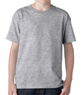 SportsGrey colored Gildan 5000B Youth Heavy Cotton T-Shirts for Kids. Order custom printed t-shirts for children.