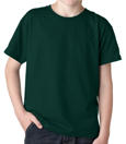 Forest green color Gildan 8000B Youth DryBlend Cotton/Polyester t-shirts for boy scout troops.