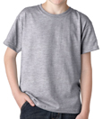 SportsGrey colored Gildan 8000B Youth DryBlend Cotton/Polyester t-shirts for Kids. Order custom printed t-shirts for children.