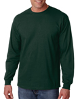 Gildan g2400 forest green colored t-shirts.