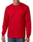 Gildan G2400 red colored t-shirts.