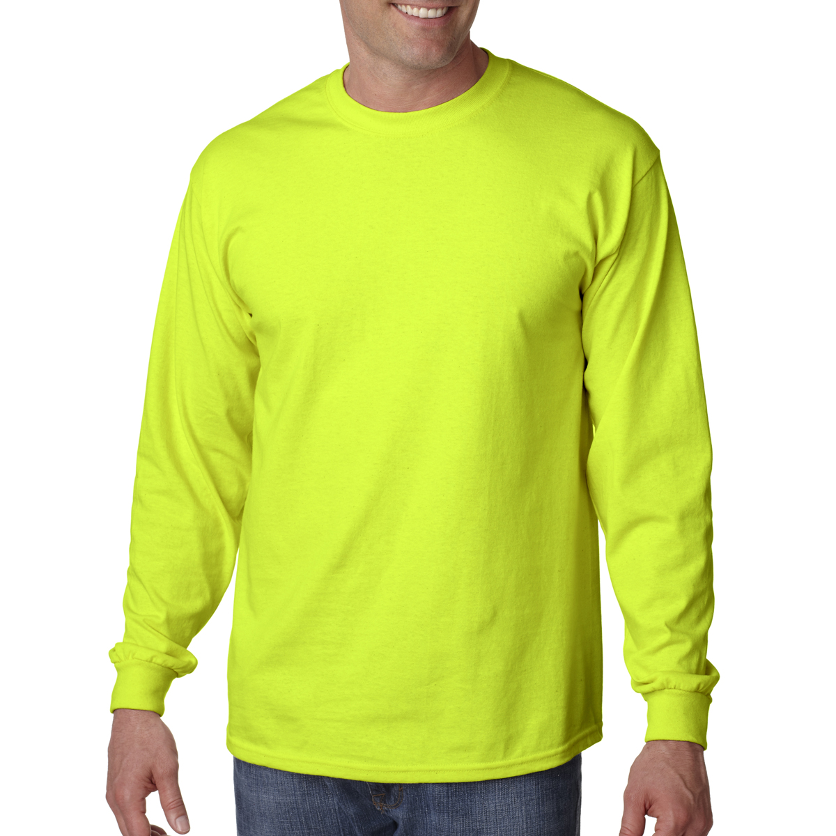 889d35d2234bc Orange · Gildan G2400 safety green colored t-shirts. Safety Green ...