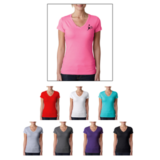 Next Level #3400W The Sporty V Neck T-Shirt for women. Ladies t-shirts for sale.
