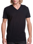 Next Level N3200 black colored t-shirts.