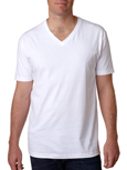 Next Level N3200 white colored t-shirts.