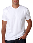 Next Level N3600 white colored t-shirts.