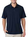 Navy Color - #8210 UltraClub Men's Cool & Dry Mesh Pique Polo Shirt with custom embroidery.
