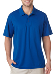 Royal Blue color - #8210 UltraClub Men's Cool & Dry Mesh Pique Polo Shirt with custom embroidery.