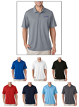 #8210 UltraClub Men's Cool & Dry Mesh Pique Polo Shirt with custom embroidery.