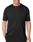 UltraClub 8420 Cool & Dry Sport Performance Interlock black colored t-shirts.