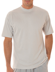UltraClub 8420 Cool & Dry Sport Performance Interlock grey colored t-shirts.
