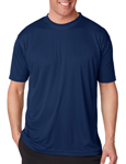 UltraClub 8420 Cool & Dry Sport Performance Interlock navy blue colored t-shirts.