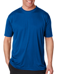UltraClub 8420 Cool & Dry Sport Performance Interlock royal blue colored t-shirts.