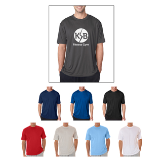 UltraClub #8420 Men's Cool and Dry Sport Tee Shirt. Our pricing includes the imprint.