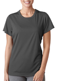 Charcoal color UltraClub 8420W Ladies' Cool & Dry Sport Performance Interlock Tee Shirt.