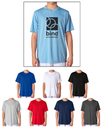 UltraClub 8420Y Cool & Dry Sport Performance Interlock t-shirts for schools and sports camps.
