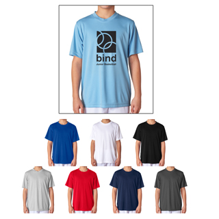 UltraClub #8420 Youth Cool and Dry Sport T-Shirt. Order custom UltraClub T-Shirts for kids with your logo or artwork.
