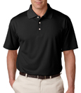 Black color - UltraClub 8445 Men's Cool & Dry Stain-Release Performance Polo Shirt.