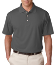 Charcoal color - UltraClub 8445 Men's Cool & Dry Stain-Release Performance Polo Shirt.
