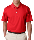 Red color - UltraClub 8445 Men's Cool & Dry Stain-Release Performance Polo Shirt.
