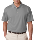 Silver color - UltraClub 8445 Men's Cool & Dry Stain-Release Performance Polo Shirt.
