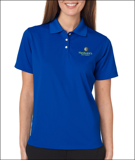 UltraClub 8445W Ladies Cool & Dry Stain-Release Performance Polo Shirt with Embroidery.